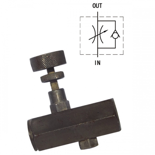 管式单向节流阀